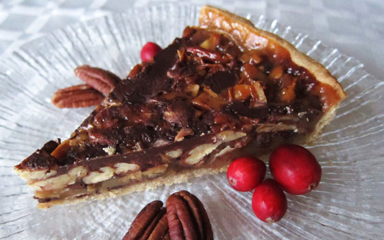 German Chocolate Pecan Tart