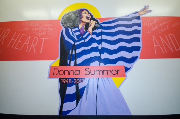 At her former high school, the late famed disco singer Donna Summer had a mural erected in her name.