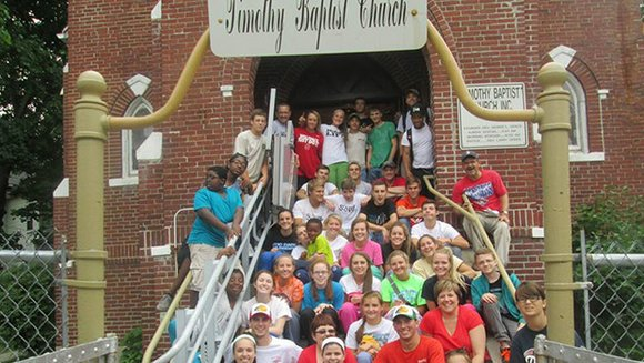 A mission team from a church in North Carolina visited a historical Bostonian church to aid in renovations to the nearly 100-year-old building.