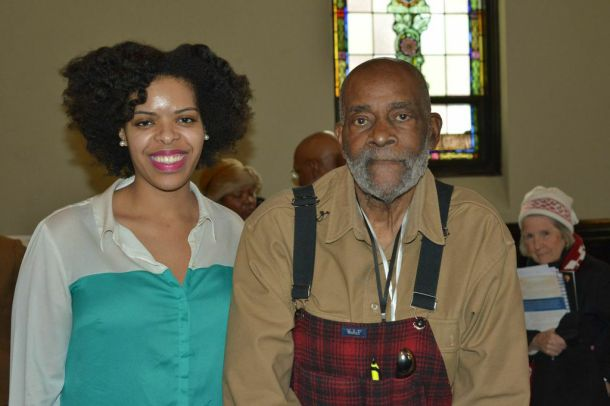 Me with the legendary Mel King after an interview following the event.